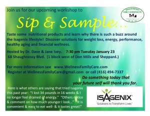 Sip & Sample Workshop